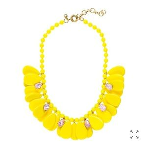J. Crew yellow dangling teardrops necklace